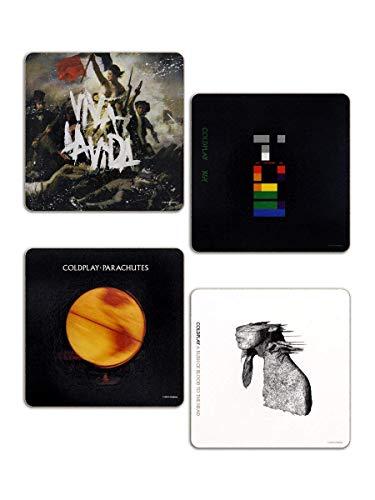 Coldplay - Rock Band Untersetzer Coaster 4er Set - Best Of Album Cover