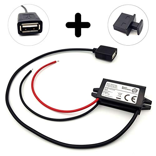 Bauer Motorbike Spannungswandler Converter Stromrichter DC/DC 6v-9v-12v-20v zu 5v USB-Anschluss für Auto, Motorrad, Caravan oder E-Bike