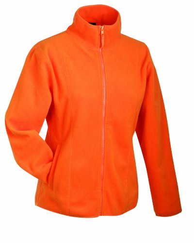 James & Nicholson Damen Girly Microfleece Jacket Jacke, Orange (orange), 36 (Herstellergröße: M)