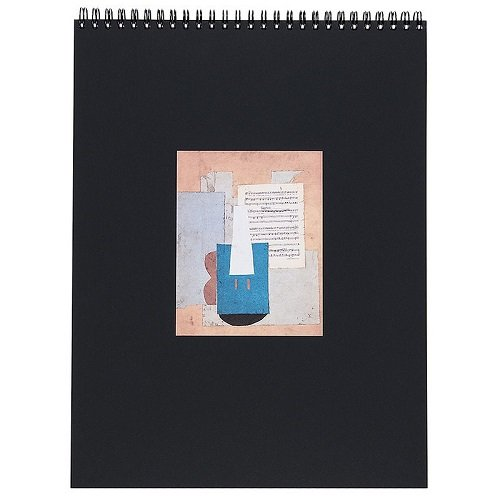 Treffen der Museen nationalen–Grand Palais–Spiral-Skizzenbuch–Violine und Blatt Musik Picasso