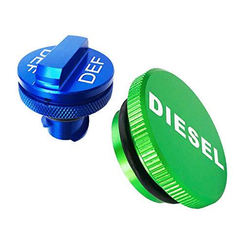 Diesel Fuel Cap(Strong magnetic) for Dodge ram,Billet Aluminum Fuel Cap Combo Pack,Magnetic Ram Diesel Billet Aluminum Fuel Cap and DEF Cap Combo for 2013-2018 Dodge Ram Truck 1500 2500 3500