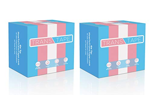 Trans Tape - Best Trans FTM Binder for Chest Binding (2 Pack)