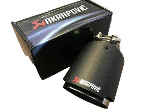 DeltaRace Akrapovic Embout universel pour pot d'échappement en carbone, 63-101 mm
