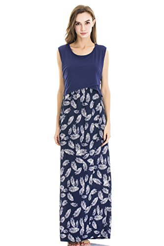 Product Image of the Bearsland Women's Maternity Summer Contrast Sleeveless Nursing Tank Top Floral...