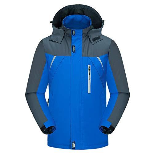 NGHXZ Outdoor Herren Hoodie Wasserdichter winddichter Jackenmantel Wandern Herbst Skisport Für Outdoor Mountain Skifahren Männliche Outwear., Blau, M.