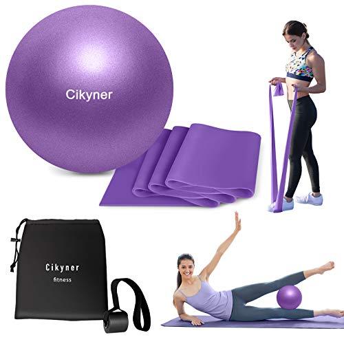 Cikyner Widerstandsbänder und Pilates Ball (lila)