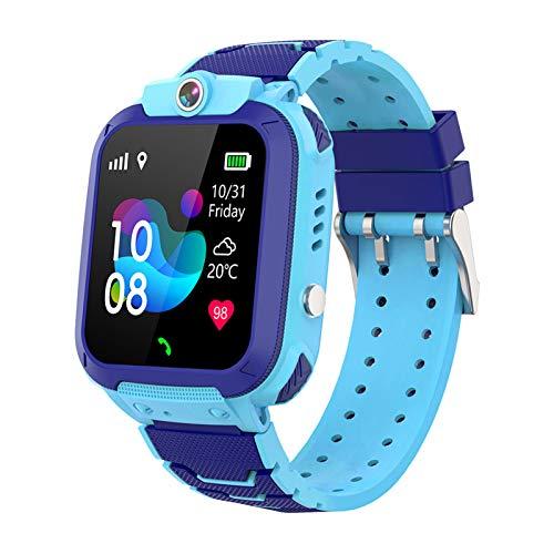 Flytise 1.44 '' Reloj Inteligente para niños LBS SOS Call Llamada bidireccional Chat de Voz Zona de Configuración Linterna Impermeable Reloj para niños Reloj Smartwatch Teléfono para niños