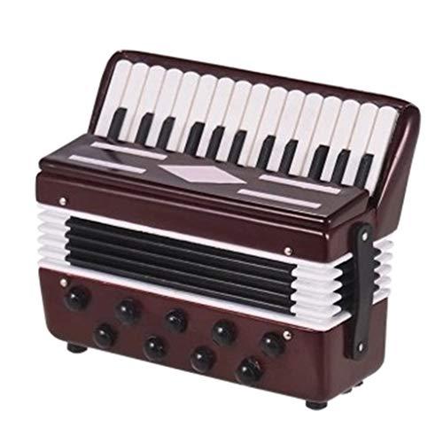 P Prettyia Miniatur Akkordeon Modell, Instrument Modell für Schreibtisch Regal Dekor