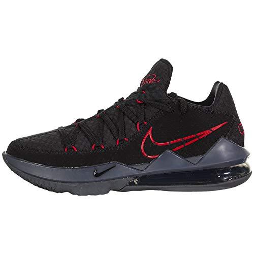 Nike Lebron Xvii Low Herren Basketballschuhe Cd5007-001, Schwarz (Schwarz/Rot), 44 EU