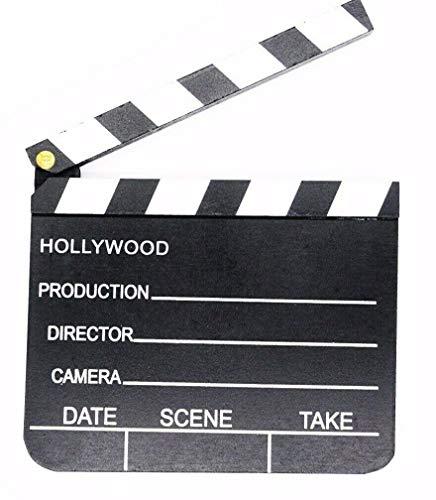 Holz Regieklappe, 18 x 20 cm, Hollywood Filmdeko, Filmklappe, Regie Klappe, Kostüm, Partyknaller