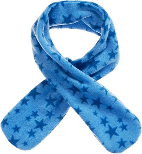 Playshoes Mädchen Fleece-Steckschal Sterne kuschelig weicher Halswärmer mit Schlaufe zum Einstecken, blau, one size
