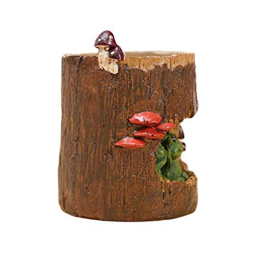 Lizefang Maceta suculenta Linda de Resina de 9x6,5 cm, Maceta suculenta de Rana con Agujero de árbol Lindo, Maceta de Escritorio con Mini Adorno, macetas Redondas de Animales en Maceta