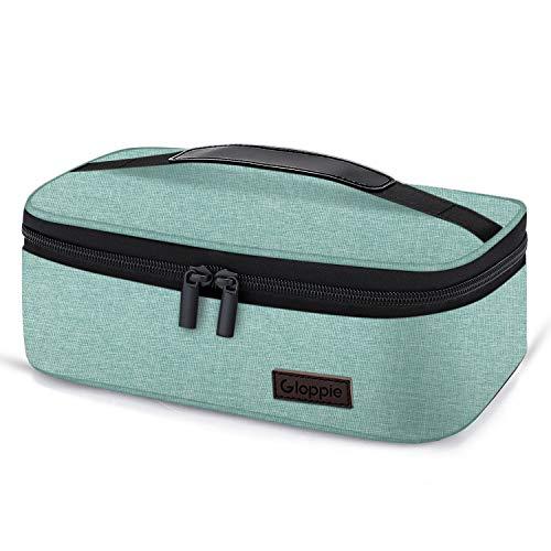 Gloppie Lunch Tasche, Kühltasche Lunch Bag Picknicktasche Mittagessen Tasche Wasserdicht für Arbeit, Schule, Ausflug Lebensmitteltransport, Grün