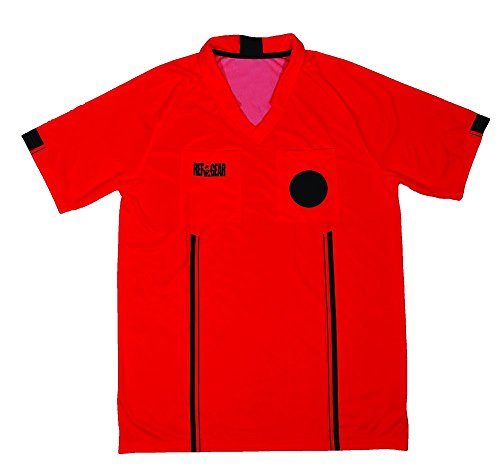 REF GEAR Economy Referee Jersey Red, Small