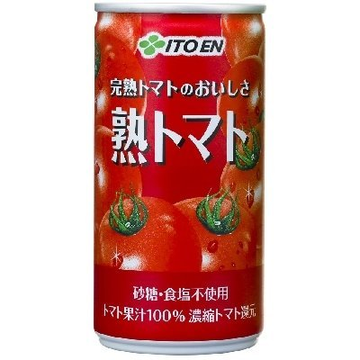 伊藤園 完熟トマトのおいしさ 熟トマト 190g缶×20本×6ケース(120本)