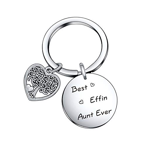 Best Aunt Ever Keychain for Aunt Appreciation Keychain New Aunt Keychain Auntie Gift Aunty Jewelry Christmas Jewelry for Aunt Birthday Gift Aunt Jewelry Best Effin Aunt Ever Keychain Sister Jewelry