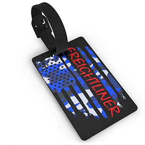shenguang American Flag Freightliner Luggage Bag Tags Travel Tags Travel ID Tag