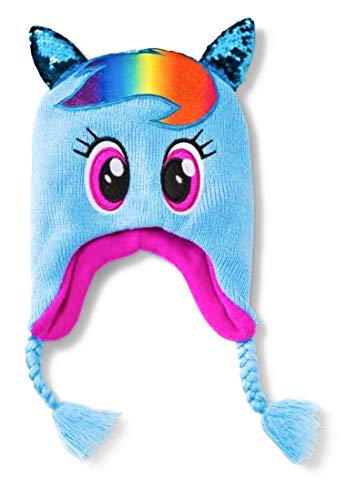 My Little Pony Rainbow Dash Peruvian Beanie - Blue One Size - ToysZone.Biz