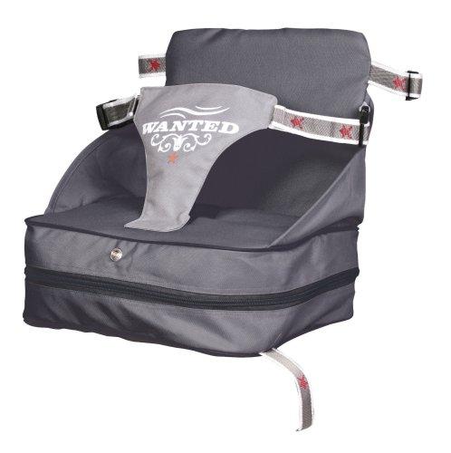 roba Boostersitz Rock Star Baby in grau, mobiler und aufblasbarer Kindersitz als Reisesitz und Sitzerhöhung, ideal als Hochstuhl für unterwegs für Babys und Kleinkinder