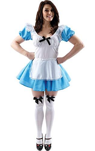 ORION COSTUMES Costume de déguisement traditionnel bleu d'Alice pour femmes