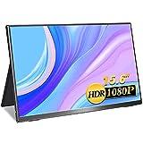 モバイルモニター 15.6インチ MISEDI モバイルディスプレイ sRGB100%色域 0.48cm/695g 超軽量/超狭額/超薄型モニター USB Type-C*2/HD PSE認証済み 3年保証付