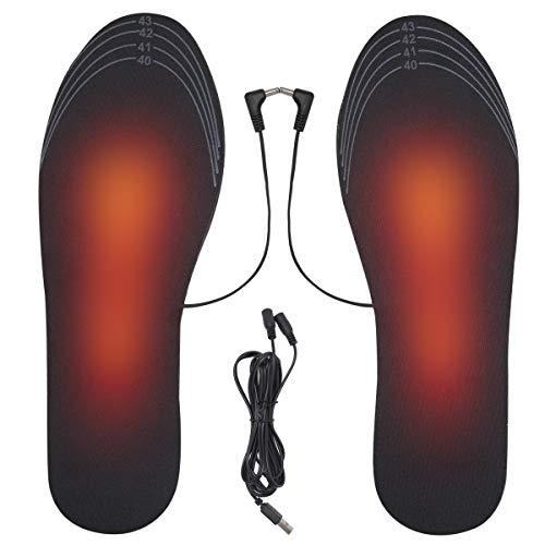 ZITFRI Semelle Chauffante USB Semelles Chauffantes Rechargeables Semelle Chauffante Femme Homme Tailles 40-44