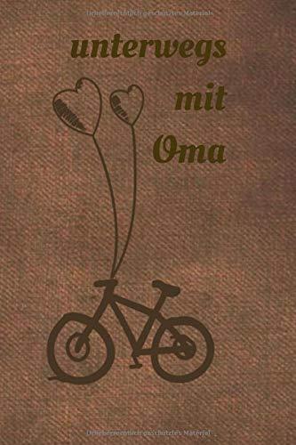 unterwegs mit Oma: für die Oma, die gerne Fahrrad fährt | 💫 Geschenkidee | Geschenke | Geschenk 💫