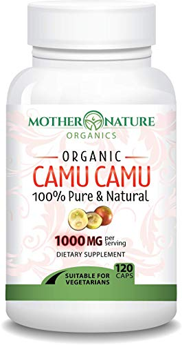 Madre Nature - Organic Camu Camu Berry Capsules - Max Strength 1000mg Per Serving - Natural Vitamin C - Fresh Harvest from Peru