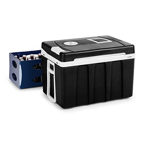 KLARSTEIN BeerPacker Borsa Frigo Portatile - Borsa Teroelettrica, Accessorio per Picnic/Campeggio, 50L, Energetica A+++, 12V e 230V, Maniglie di Trasporto e Ruote, per Cassette di Birra, Nera