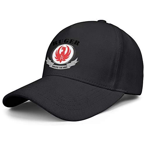 HYMANWASQHFT Men's Adjustable Baseball Cap Gun-Ruger-Sturm- Retro Fashion Hat Best Black