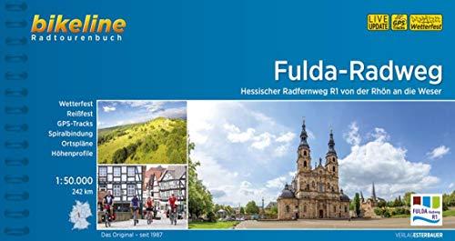 Fulda-Radweg: Hessischer Radfernweg R1 von der Rhön an die Weser. 1:50.000, 242 km, wetterfest/reißfest, GPS-Tracks Download, LiveUpdate (Bikeline Radtourenbücher)