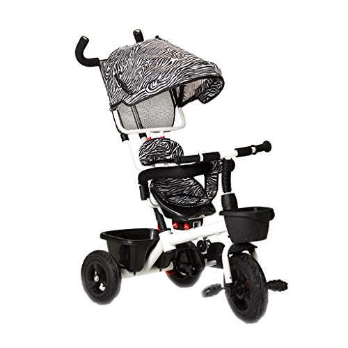 NBgy driewieler keukenweegschaal, multifunctioneel, 4 in 1, van koolstofstaal, draaibare zitting, driewieler voor buiten voor baby's, 3 kleuren, 92 x 58 x 48 cm