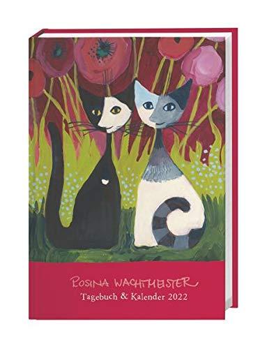 Rosina Wachtmeister Kalenderbuch A6 2022 mit Silberfolienprägung - Tagebuch - Terminkalender - Taschenkalender - Wochenplaner - 176 Seiten, Lesebändchen - 11,5 x 16,3 cm