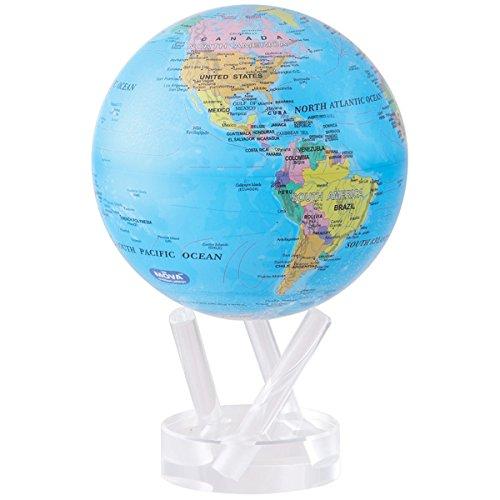 Mova El globo 4.5 pulgadas con un mapa político Azul