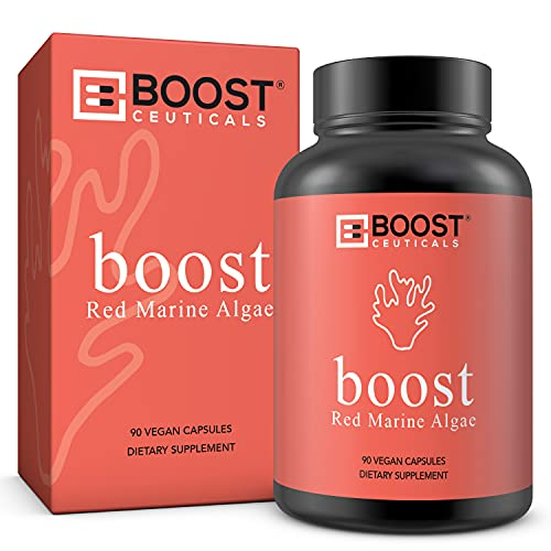BoostCeuticals Red Marine Algae 450mg No Stearates No Additives Vegan Capsules – Supports Immune Thyroid & Skin Health - Non-GMO Supplements (90 Day Supply)