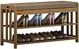 DEWUFAFA Estante de Zapatos Zapatero Zapatero con el Amortiguador de Asiento, vestíbulo Zapato gabinete de Madera Maciza Almacenamiento de Zapatos (Color : Simple-3)