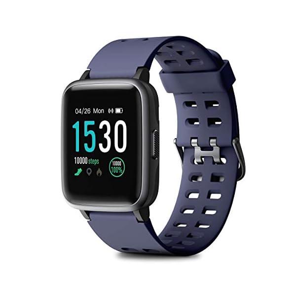HOMVILLA Pulsera Actividad, Fitness Tracker, Reloj Inteligente Impermeable IP68 con Pulsómetro Monitor de sueño Pulsera… 1