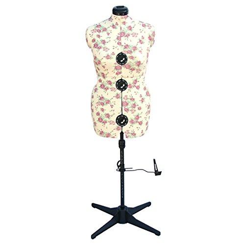 Sewing-Online Verstellbare Schneiderpuppe, Vintage Blumen Größen Medium