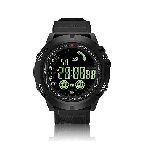 QYLJX Smart Watch Fitness Tracker, Bluetooth 4.0 Sportuhr Wasserdichte Taktische Militärische Grade Uhr Schrittzähler Kalorienzähler Anruferinnerung, mit iOS Android für Männer Frauen