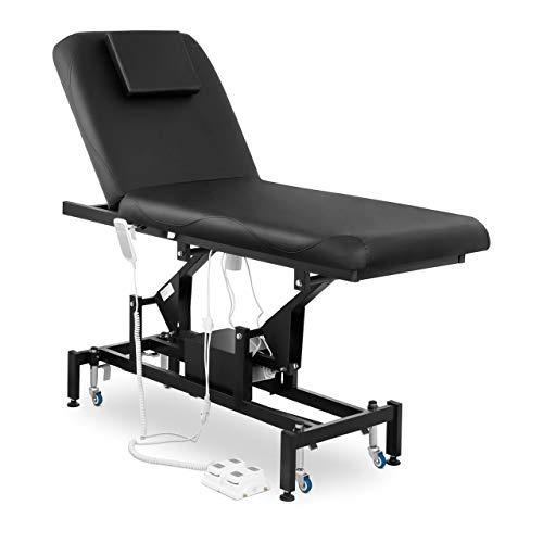 Physa Massageliege Massagetisch Massagebett Behandlungsliege Höhenverstellbar Schwarz LYON BLACK (Kunstleder, Schaumstoff-Polsterung)