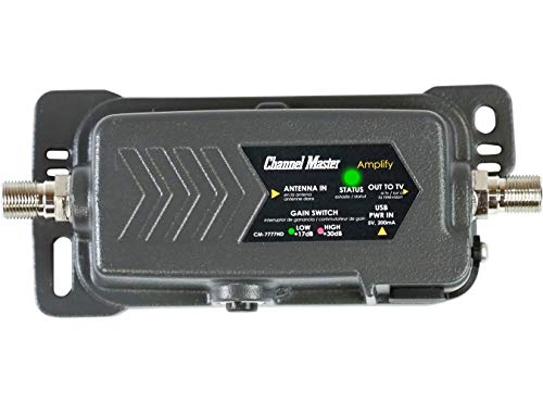 Channel Master CM-7777HD Amplify Adjustable Gain TV Antenna Preamplifier with LTE Filter |...
