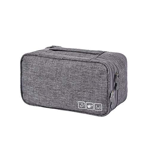 Sungpunet Reisetasche Unterwäsche Aufbewahrungstasche BH Aufbewahrungstasche Unterwäsche Verpackung Tasche Große Kapazität Mehrlagige Tasche grau