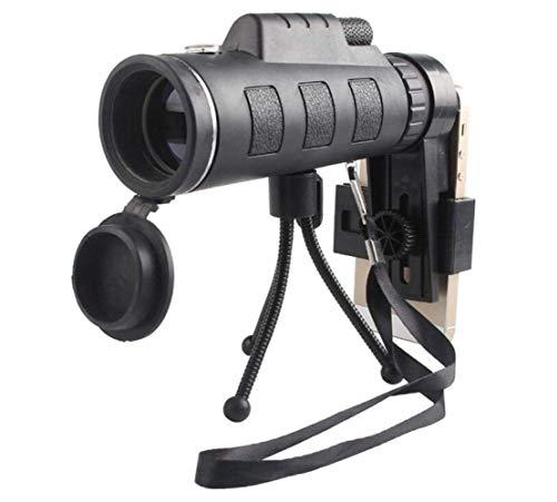 Kleine telescoop, monoculair, HD Low-Light Night Vision verrekijker met kompas, foto's maken. voor Jacht Wandelen Caving Zwart Klein (Kleur : Zwart) 1