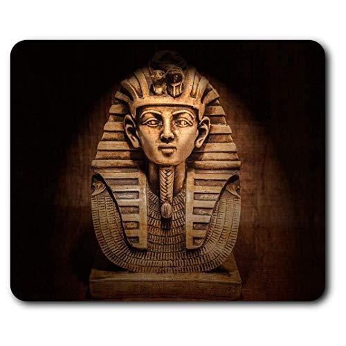 Comfortabele Muismat - Egyptische Farao Tutankhamen Masker voor Computer & Laptop, Kantoor, Cadeau, Antislip Basis