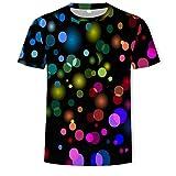 ASHGNV Inyección de Tinta de Puntos de Color Camiseta para...