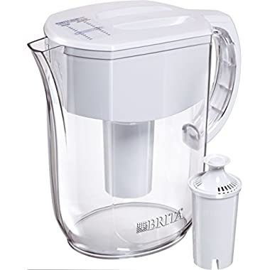 Brita 10060258362050  Large 10 Cup Everyday Water Pitcher with Filter - BPA Free - White