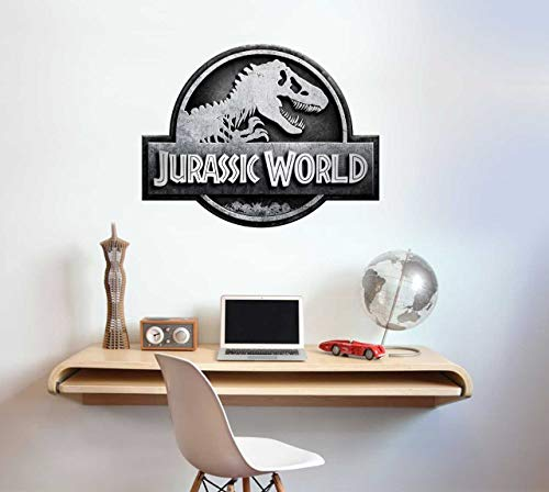 "Wandaufkleber aus Vinyl, Motiv ""Beautiful Game Jurassic World"" mit Dinosaurier-Logo, 60 cm"