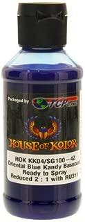 House of Kolor Oriental Blue Candy Basecoat Pre-Blended R-T-S 4-Oz Bottle
