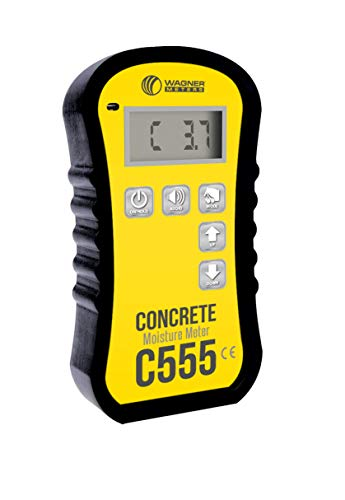 Wagner Meters C555 Concrete Moisture Meter Kit - Pinless Handheld Concrete Moisture Meter