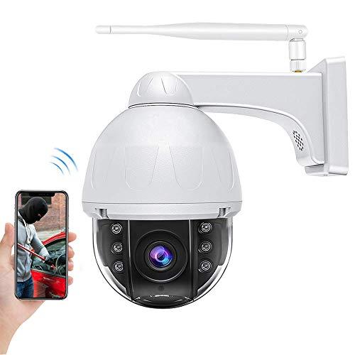 Camera Surveillance WiFi Exterieure, Caméras Dômes IP 360° Etanche IP66, HD 1080p Vision Nocturne Infrarouge, Audio Bidirectionnel & Alerte de Détection De Mouvement